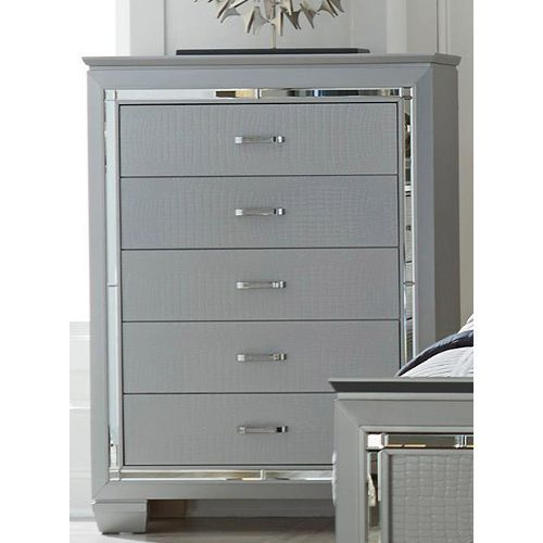 Best Contemporary Silver And Gray Chest Of Drawers Allura 400 x 300