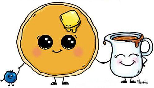 Pancake, Syrup & A Blueberry