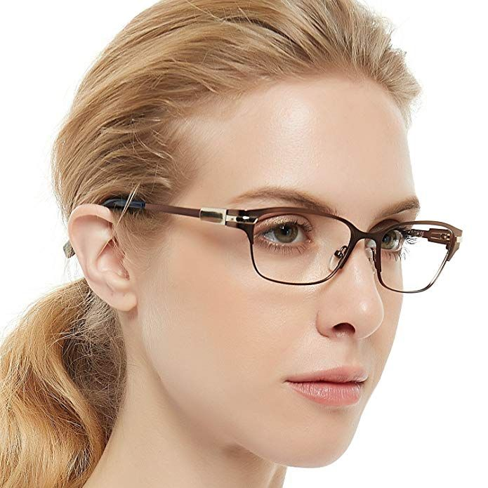 72769202e Half Rimeless Rectangle Stylish Eyewear Frame Non-Prescription Eyeglasses  With Clear Lenses Gifts For Women Men OCCI CHARI Review