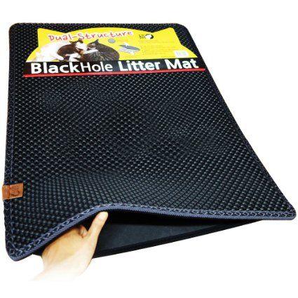 """Amazon.com: Blackhole Cat Litter Mat - Super Size Rectangular 30"""" X 23"""": Pet Supplies"""