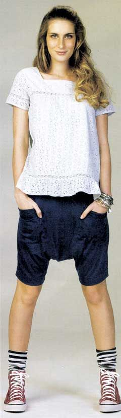 como usar shorts saruel feminino