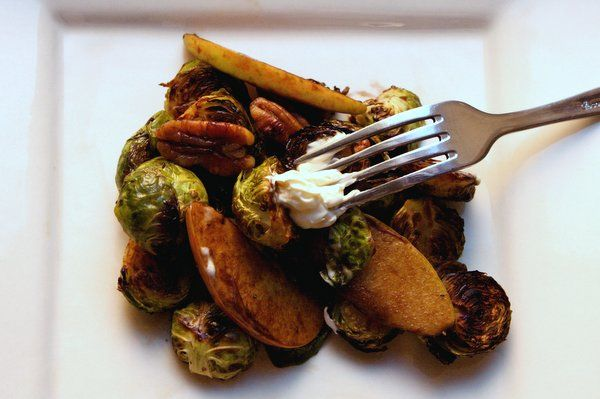 Brussels Sprouts with Apple, Pistachios, & Crème Fraiche # ...