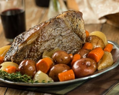 Slow Cooker Beef Roast with Vegetables (bottom round )