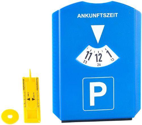 PEARL Parkscheibe mit Eiskratzer, Einkaufs-Chip und Profilmesser