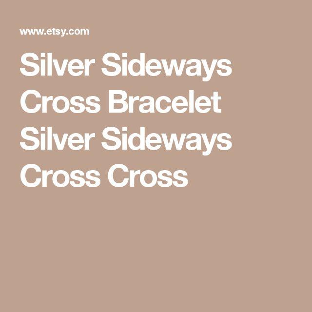 Silver Sideways Cross Bracelet Silver Sideways Cross Cross