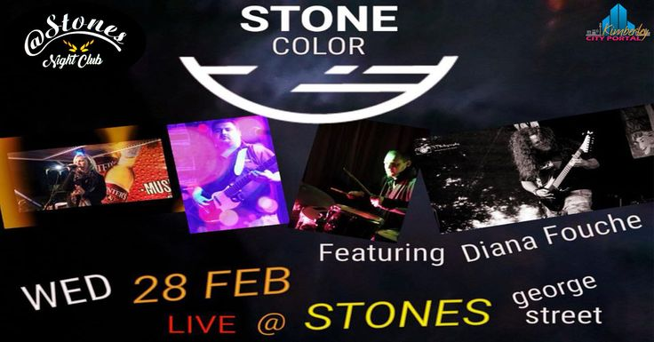 Stone Colour Live @ Stones Night Club - http://www.kimberley.co.za/events/kimberley/events/stone-colour-live-stones-night-club/?utm_source=PN&utm_medium=Kby+City+Portal+Events&utm_campaign=SNAP%2Bfrom%2BKimberley+City+Portal