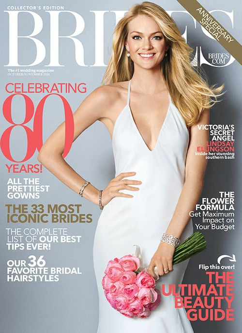 Love her @verawanggang #weddingdress on our October/November 80th anniversary cover! | Brides.com