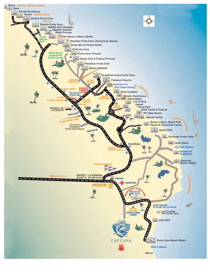Image result for punta cana map