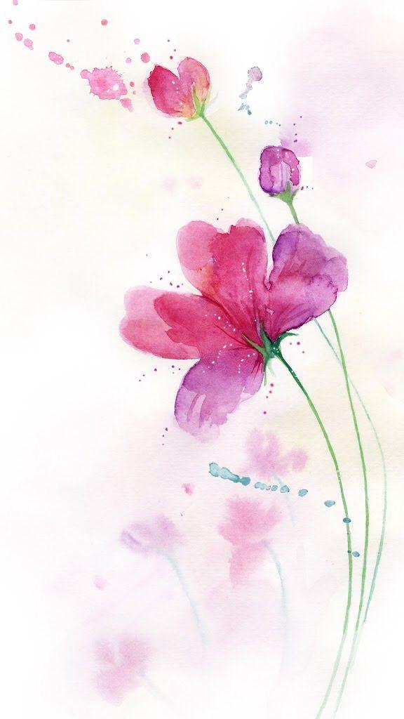 Цветы на открытках акварелью, поздравление