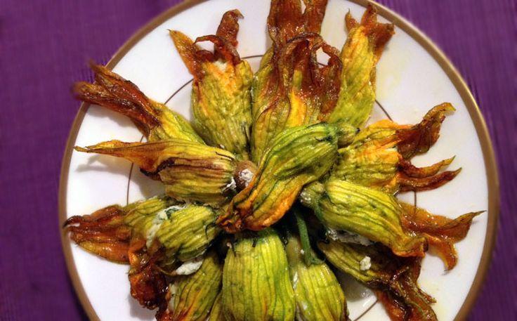 Fiori di Zucchina con ricotta e dadolata di pomodoro - Buon compleanno leone