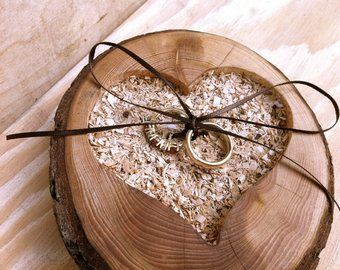 Rustic Wedding Ring Bearer Pillow Pine Cone Wedding Wedding