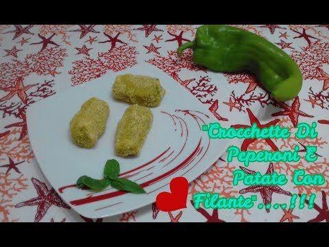 """""""Crocchette Di Peperoni E Patate Con 💗 Filante""""...!!! Trovate il #video sul mio canale #youtube vi aspetto ;-)) #crocchette #crocchetta #crocchettedipatate #crocchettedipeperoniedipatate #peperoni #patate #food #ricette #ricetta #crocchetteconcuorefilante #crocchettealforno #antipasti #antipastisfiziosi"""