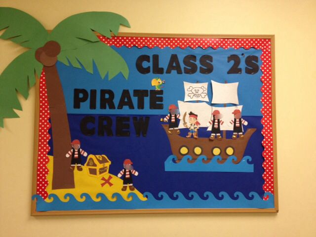 Pirate bulletin board I made for summer!