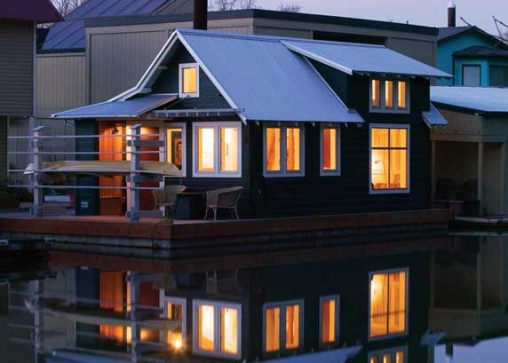 This 433 square foot tiny home rests on a floating for Foundation tiny house builders