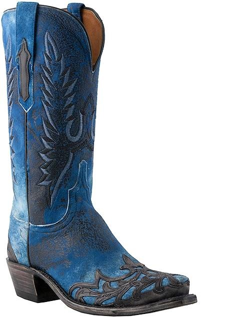 BLUE BLUE BLUE Western Cowboy Boots I Love #Blue #Boots #Cowgirl_Boots