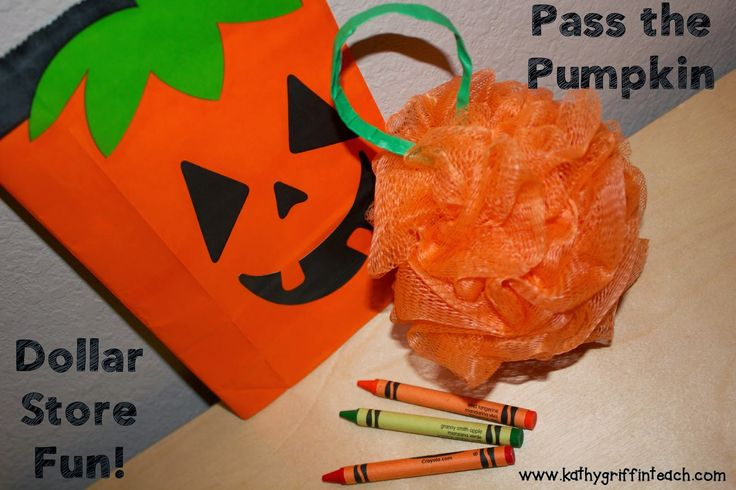 Kathy Griffin's Teaching Strategies: Pumpkin Games Pumpkin Books - great party ideas