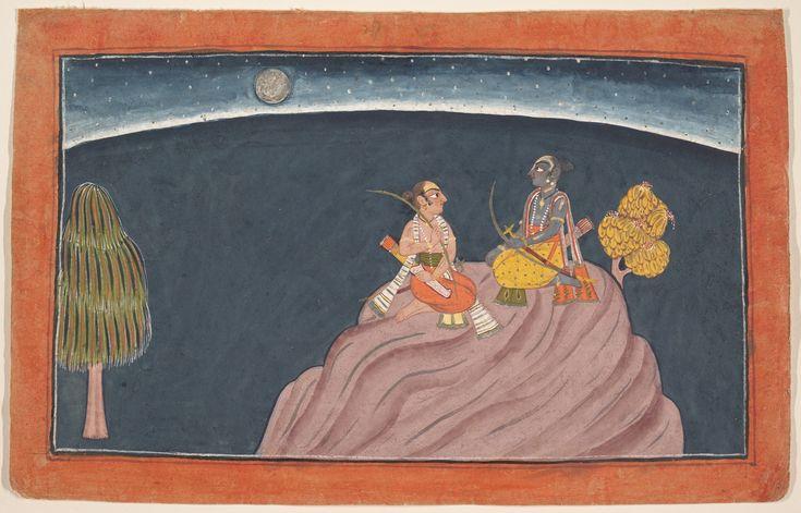 Rama and Lakshmana on Mount Pavarasana Date: ca. 1700 Culture: India (Punjab Hills, Bahu)