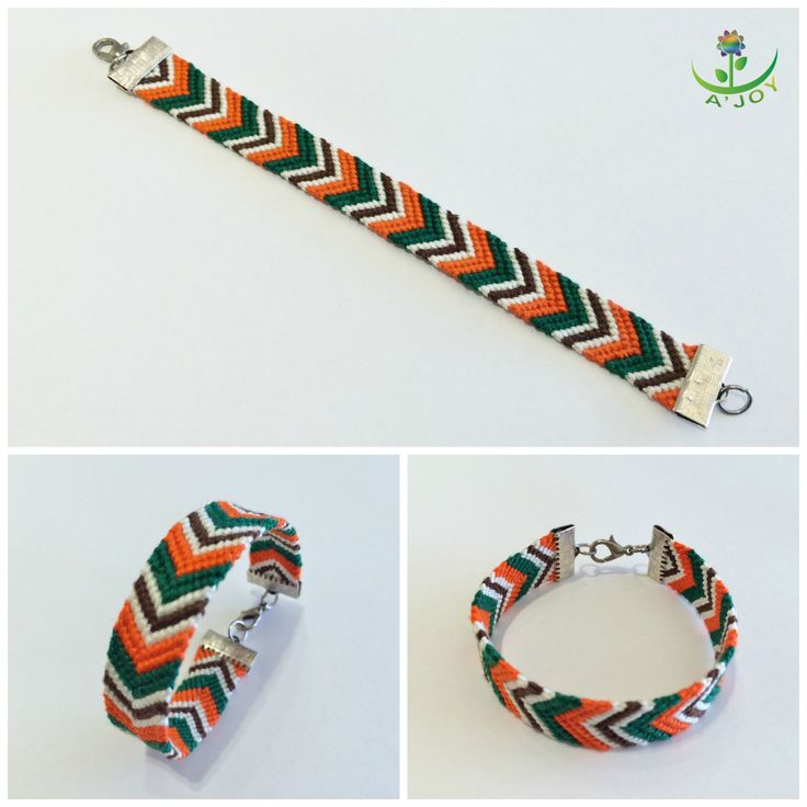 Friendship Bracelet FB00023 (Strings : 7, Colours : 4, Rows : 10)
