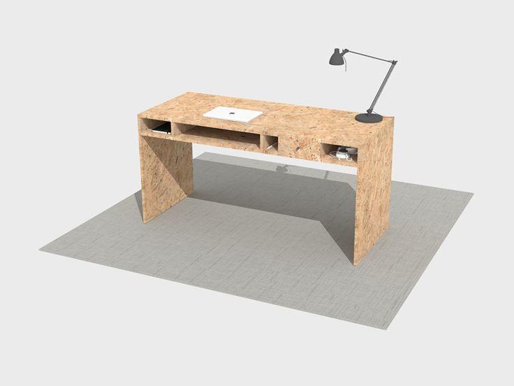 Schreibtisch Selber Bauen Mobelreihe Kritzel Mobel Selber Bauen Aus Osb Md Diy Mobel Step Stool Home Decor Decor