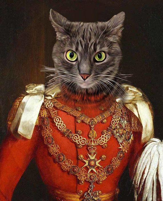 Prince Albert - Custom Renaissance Pet Dog and Cat Portraits - Digital portrait painting using your Pet's Photo