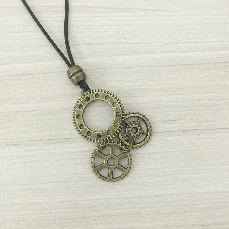 Colar Masculino pingente engrenagem mens necklace style fashion