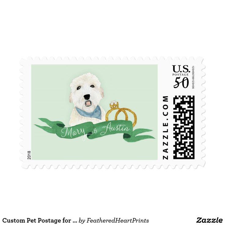 Custom Pet Postage for Mary & Austin