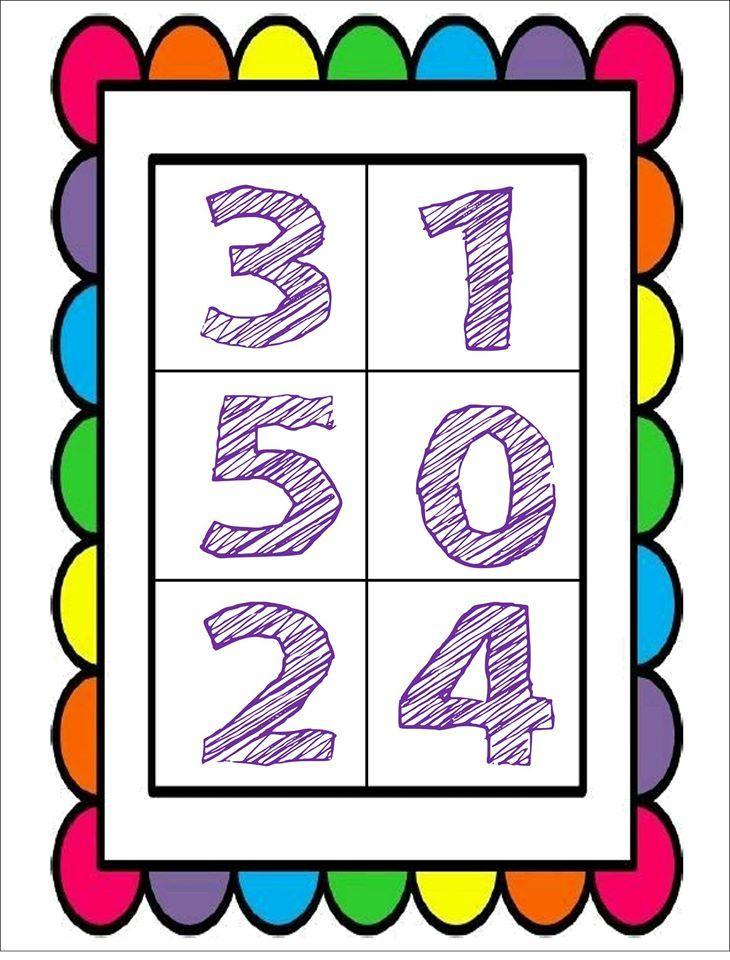 Fabulosa y bonita lotería y cartas de números | Material Educativo
