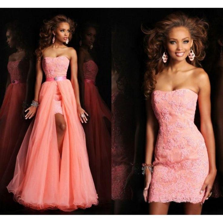 Вечернее платье с снимающейся юбкой