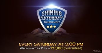 KhelPlay Rummy - Google+   Shining Saturday #Tournament  tonight at 9 :00 PM. Win your share from Rs. 10,000*. Join now for just Rs. 20! ➡ http://bit.ly/1StJIr8 #KhelPlayRummy‬   #PlayRummy   #Rummy