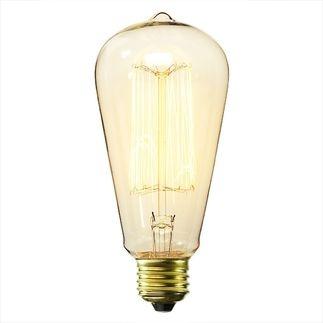 Antique Light Bulb - Marconi Filament Antique Light Bulb Co. L4099 - 60 Watt - Clear - S21 - 3,000 Life Hours $5