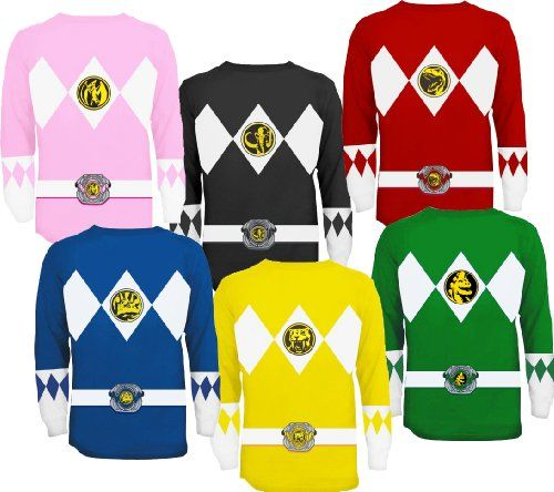 17% Off was $30.00, now is $24.95! The Power Rangers Long Sleeve Ranger Costume T-shirt
