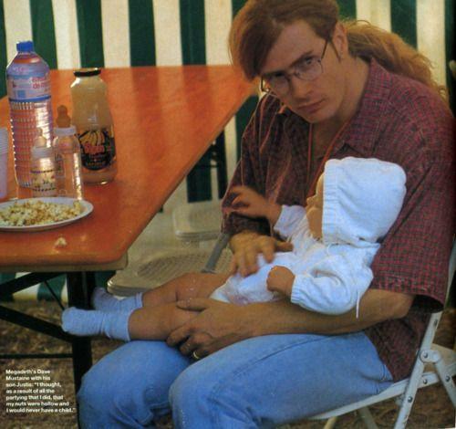 Megadeth's Dave Mustaine & son, Q Magazine, 1992.