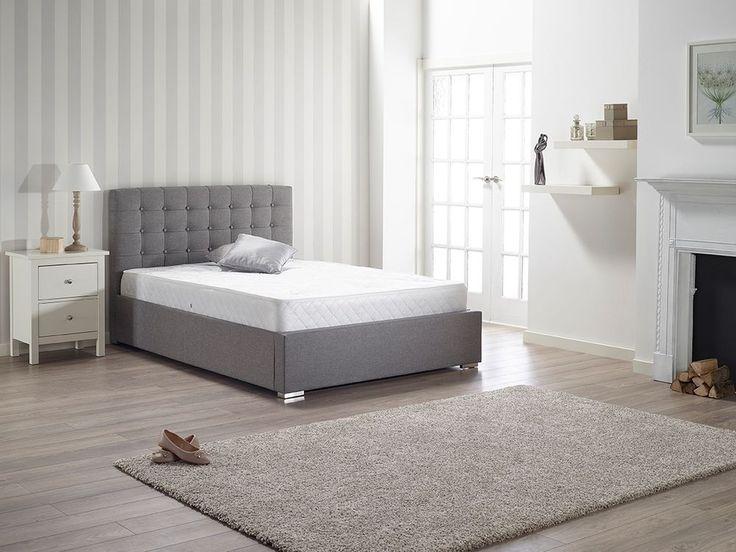 zara upholstered grey fabric 5ft 150cm king size bed frame bedstead ebay - Ebay Bed Frames