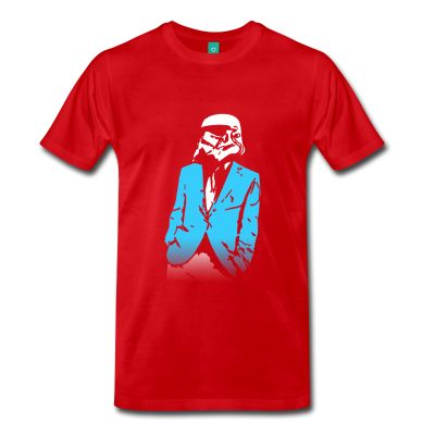 Stormtrooper At The Party, Star Wars - Men's T-Shirt - Men's Premium T-Shirt / Funny Graphic For A Star Wasr Fan / Cool And Funny Tshirts / 3XL 4XL 5XL Big And Tall Tees / teessauce.com