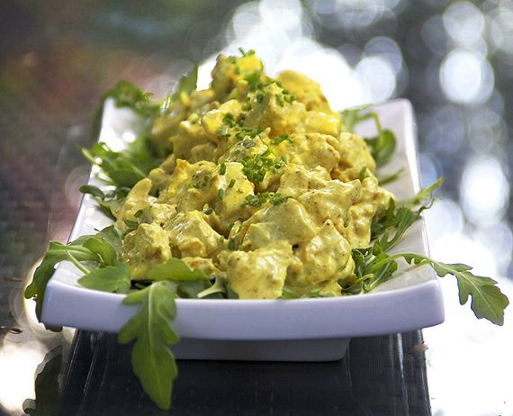 A great Curried Chicken Salad.  Everyone needs this recipe in their repertoire - for lunch, brunch, on a bed of lettuce or in a roll-up.