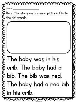 Reading Fluency Passages CVC Word Family {Kindergarten} | reading ...