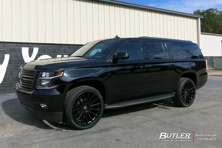 Chevrolet Suburban with 24in Black Rhino Spear Wheels by #butlertire