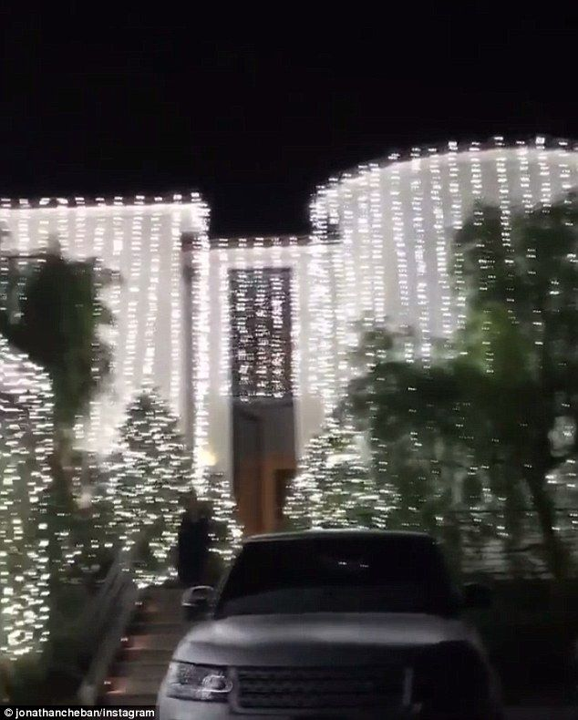 'KimYe house lit!' Kim Kardashian and Kanye West's Bel Air mansion sparkles with over-the-top Christmas lights