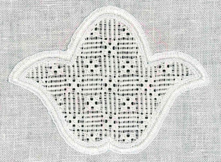 5 Rosenstiche je freies Quadrat | 5 Rose stitches in each square