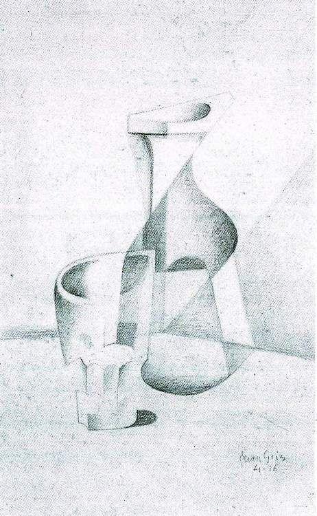 juan gris - caraffe and glass