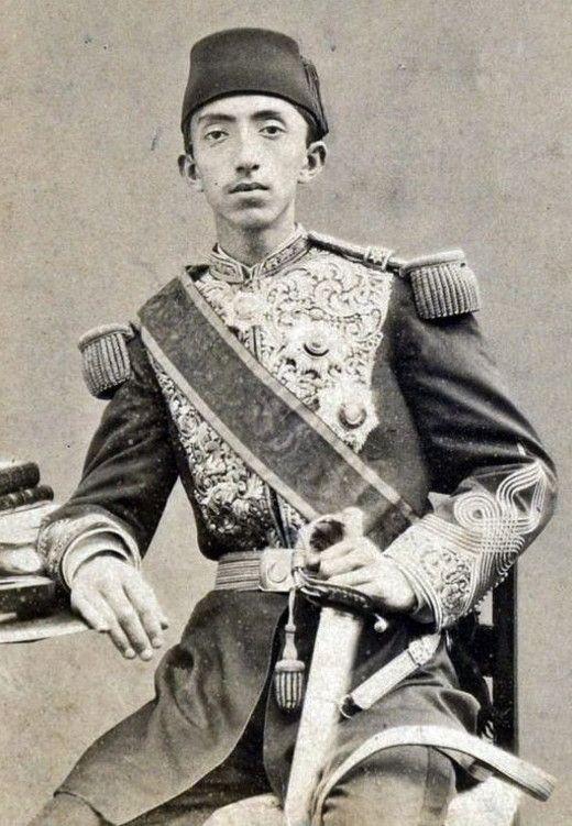 The last Ottoman Sultan Mehmed VI in his principality period. Istanbul, ca. 1880.