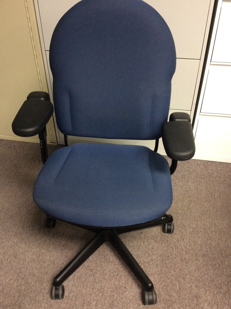 Used Chair, Multi-tilter with Adjustable Arms, Seat Slider, Blue Fabric Brand: TURNSTONE USGSCEN14012 Great offer: $ 149