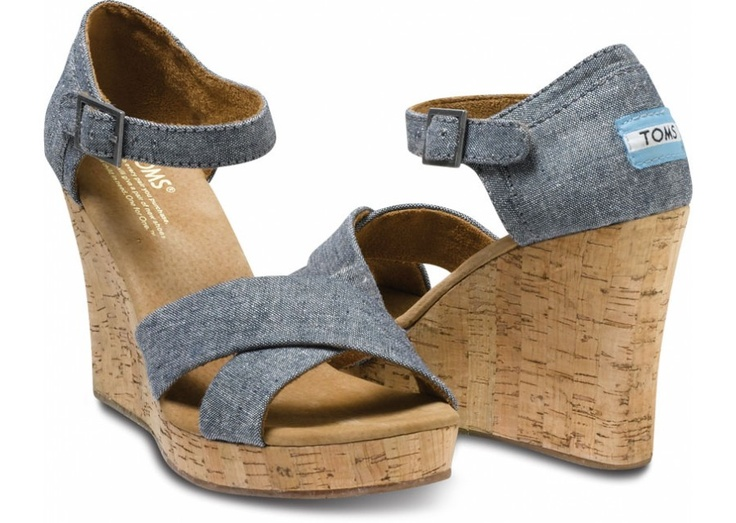 Sofie Women's Strappy Wedges - Thinking these could be supercute!