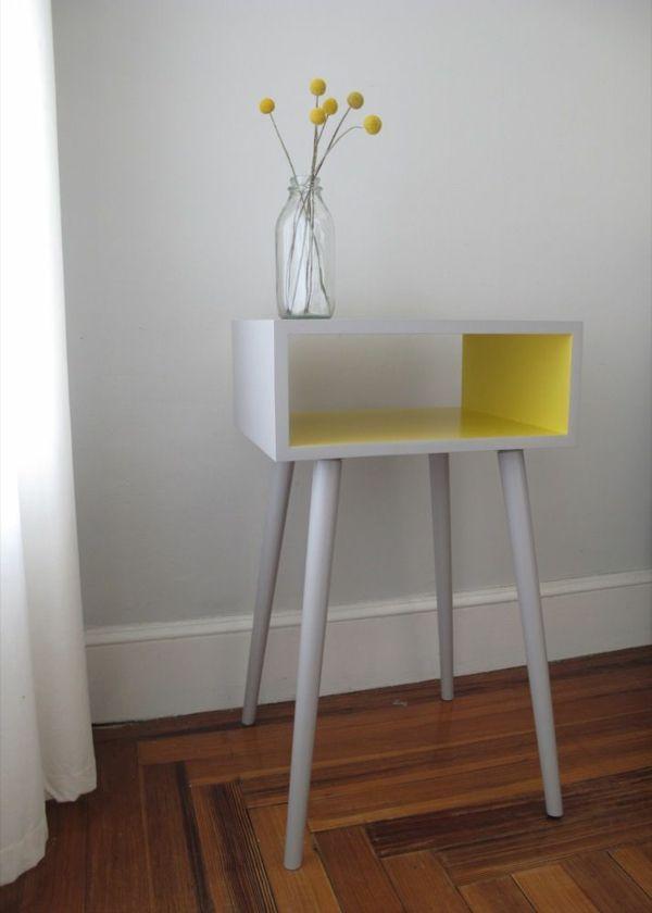 lackfarben für holz acryllack möbel beistelltisch