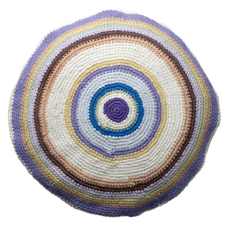 crochet cushion from Bloomingville. www.bloomingville.com