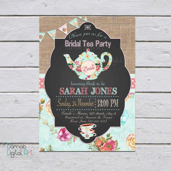 Tea Party Bridal Shower Invitation Bridal Shower by DamabDigital