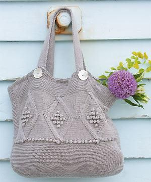 Bag Purse And Tote Free Knitting Patterns Pinterest