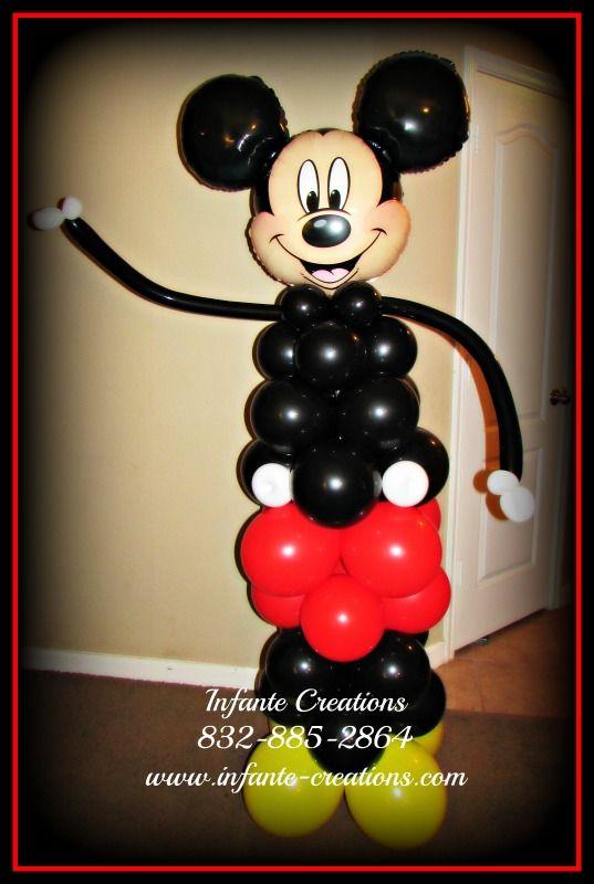 6 Mickey Mouse Balloon Column Mickey Mouse Balloons