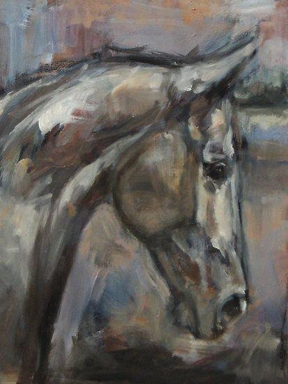 Nina Smart painting - The kind  Gentle Gelding