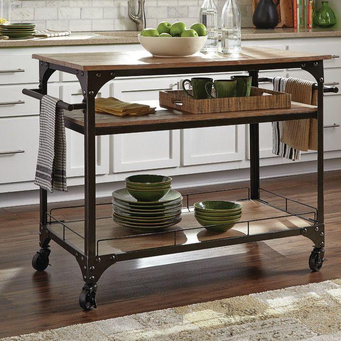Donny Osmond Kitchen Cart with Wood Top & Reviews | Wayfair